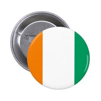 Flag of Ivory Coast - Drapeau de la Côte d'Ivoire 6 Cm Round Badge