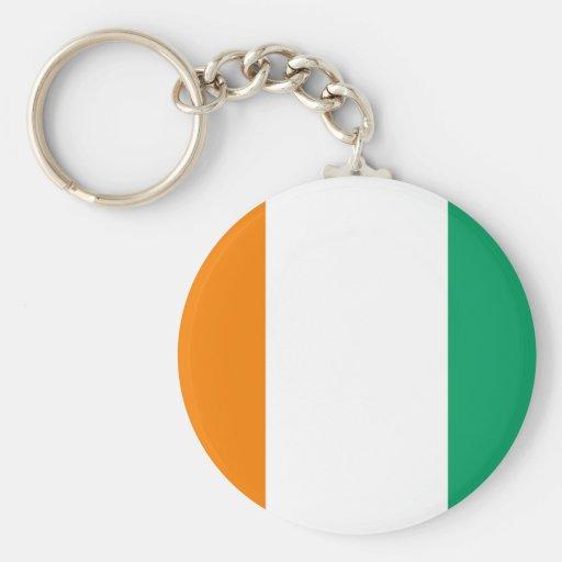 Flag of Ivory Coast - Drapeau de la Côte d'Ivoire Keychain