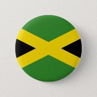 Flag of Jamaica 6 Cm Round Badge