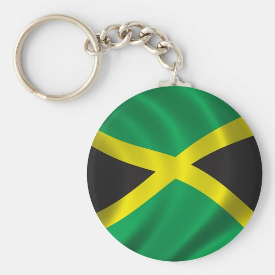Flag of Jamaica Basic Round Button Key Ring