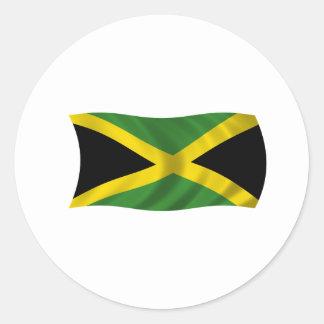 Flag of Jamaica Classic Round Sticker