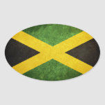 Flag of Jamaica Oval Stickers