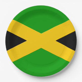 Flag of Jamaica Paper Plate