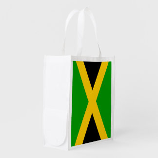Flag of Jamaica Reusable Grocery Bag