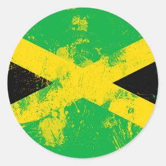 Flag of Jamaica Round Sticker