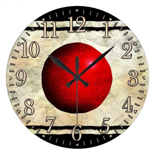 Flag of Japan Nippon Patriotic Art Wall Clock