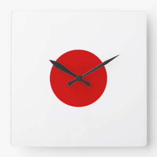 Flag of Japan Square Wall Clock