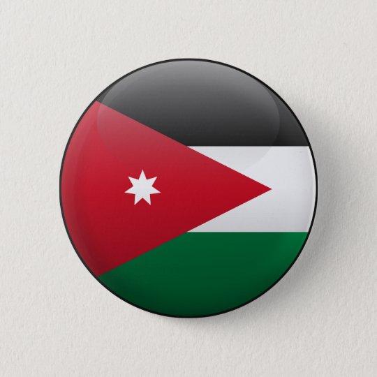 Flag of Jordan 6 Cm Round Badge