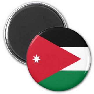 Flag of Jordan 6 Cm Round Magnet