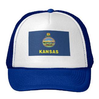 Flag of Kansas Trucker Hats