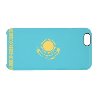 Flag of Kazakhstan Clear iPhone Case