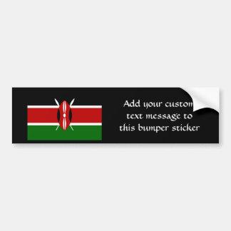 Flag of Kenya Africa Bumper Sticker
