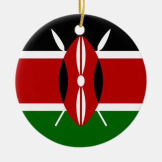 Flag of Kenya Africa Christmas Ornament