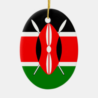 Flag of Kenya Ceramic Oval Decoration