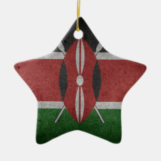 flag of Kenya Ceramic Star Decoration