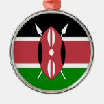 Flag of Kenya Christmas Ornaments