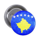 Flag of Kosovo 6 Cm Round Badge