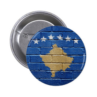 Flag of Kosovo 6 Cm Round Badge