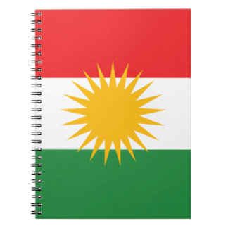 Flag of Kurdistan (Alay Kurdistan or Alaya Rengîn) Notebook