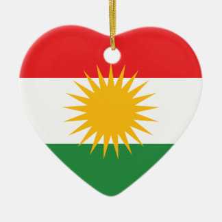Flag of Kurdistan; Kurd; Kurdish Christmas Ornament