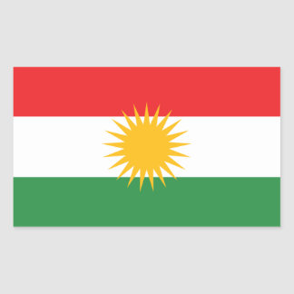 Flag of Kurdistan Rectangular Sticker