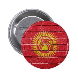 Flag of Kyrgyzstan 6 Cm Round Badge