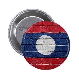 Flag of Laos 6 Cm Round Badge