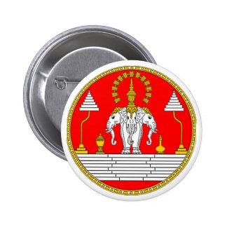 FLAG OF LAOS THREE HEAD ELEPHANT PINBACK BUTTON