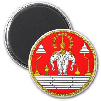 FLAG OF LAOS THREE HEAD ELEPHANT REFRIGERATOR MAGNETS