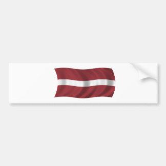 Flag of Latvia Bumper Sticker