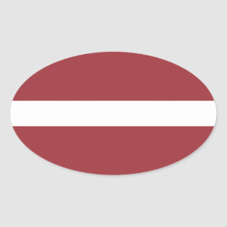 Flag of Latvia Oval Sticker