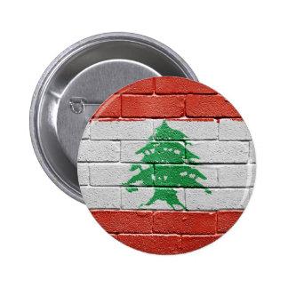 Flag of Lebanon 6 Cm Round Badge