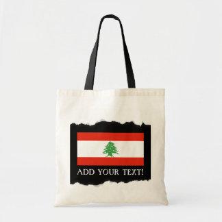 Flag of Lebanon Budget Tote Bag