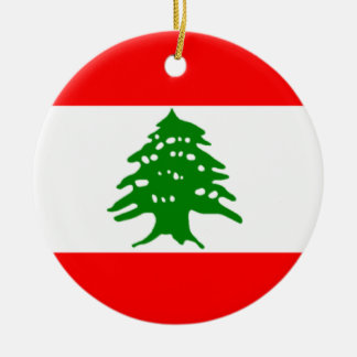 Flag of Lebanon Christmas Ornament