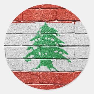 Flag of Lebanon Classic Round Sticker