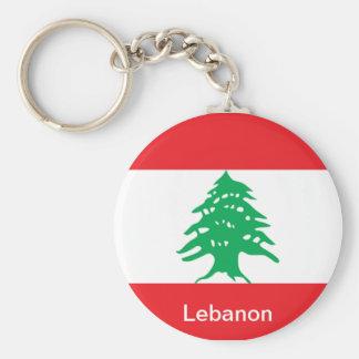 Flag of Lebanon Key Ring