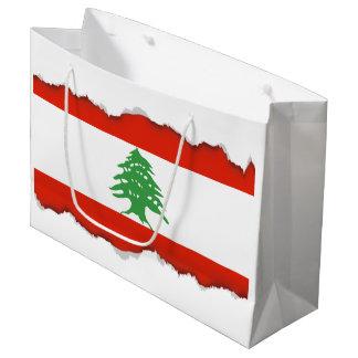 Flag of Lebanon Large Gift Bag