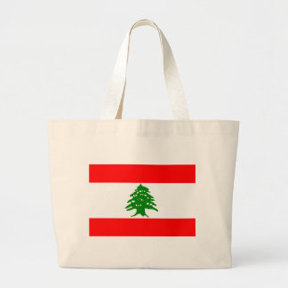 Flag of Lebanon Large Tote Bag