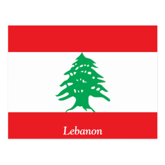 Flag of Lebanon Postcard