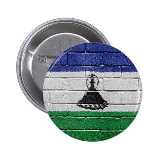 Flag of Lesotho 6 Cm Round Badge