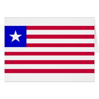 Flag of Liberia Card