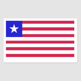 Flag of Liberia Rectangular Sticker