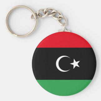 Flag of Libya Basic Round Button Key Ring