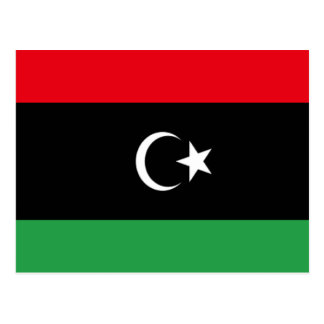 Flag of Libya Postcard