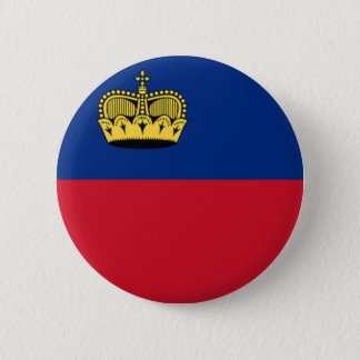 Flag of Liechtenstein 6 Cm Round Badge
