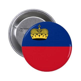 Flag of Liechtenstein 6 Cm Round Badge