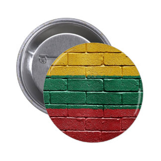 Flag of Lithuania 6 Cm Round Badge