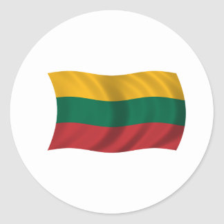Flag of Lithuania Classic Round Sticker