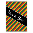 Flag of Lithuania Inspired Coloured Stripes Card