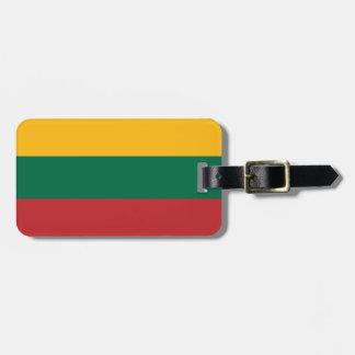 Flag of Lithuania Luggage Tag w/ leather strap